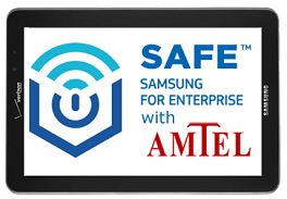 Samsung for Enterprise (SAFE) mobile device security features help protect corporate and BYOD devices and data in the enterprise
