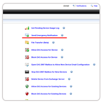 Define settings to manage en masse notifications to selected groups or the entire organization