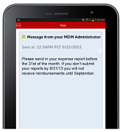 Push text messages to mobile devices via email or SMS services
